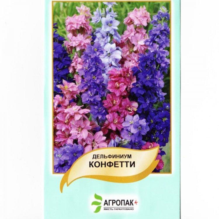 Дельфиниум Конфетти, семена цветов, Legutko, Польша