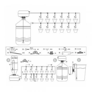 Автоматическая лейка для полива растений GREENMILL (GB3014C) Польша