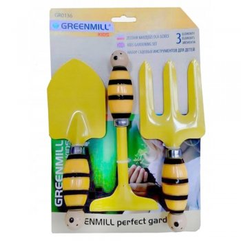 Набор садовых инструментов для детей, желтый (GR0136) Польша