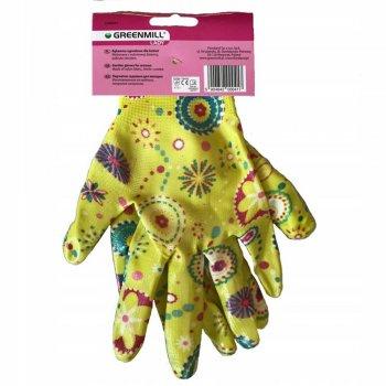 Перчатки садовые, женские. Размер M. Жёлтые. (GR0041)