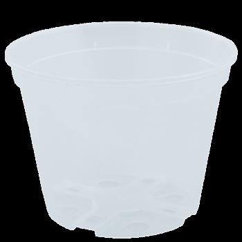 Вазон дренажный, диаметр 11 см, (прозрачный)