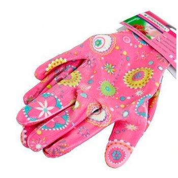 Перчатки садовые, женские. Размер M. Розовые. (GR0041)