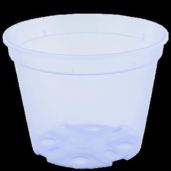 Вазон дренажный, диаметр 19 см, (фиолетовый, прозрачный)