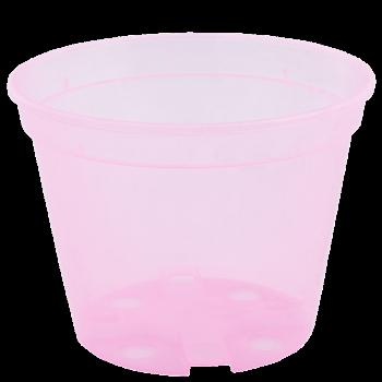 Вазон дренажный, диаметр 13 см, (розовый, прозрачный)