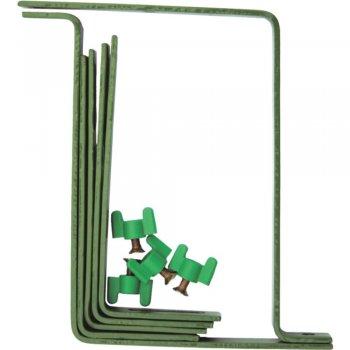Крючки для крепления балконных ящиков, цвет зеленый  Greenmill  (GR5070Z)