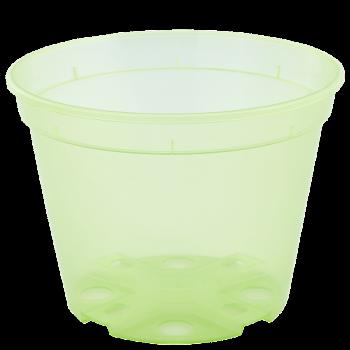 Вазон дренажный, диаметр 13 см, (салатовый, прозрачный)