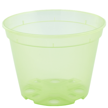Вазон дренажный, диаметр 19 см, (салатовый, прозрачный)