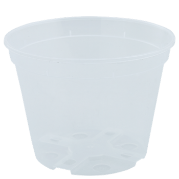 Вазон дренажный, диаметр 14 см, (прозрачный)
