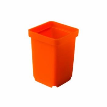 Горшочек для кактусов оранжевый