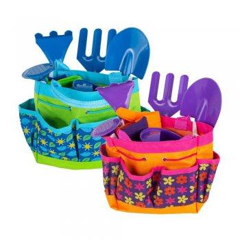 Набор садовых инструментов для детей, 6 элементов,  голубой (GR0139)