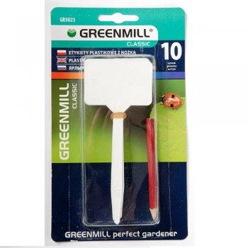 Этикетки Greenmill Classic пластмассовые Т-образные с карандашом 10 шт (GR5023)